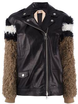 Куртка С Меховыми Рукавами No21                                                                                                              черный цвет