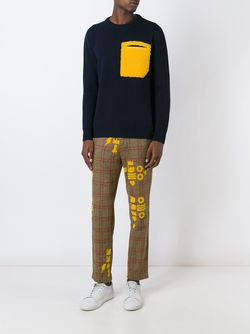 Printed Checked Trousers WALTER VAN BEIRENDONCK VINTAGE                                                                                                              Nude & Neutrals цвет