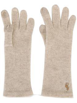 Сенсорные Перчатки С Логотипом Polo Ralph Lauren                                                                                                              белый цвет