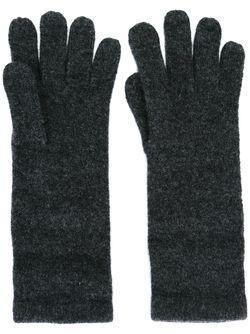 Перчатки С Вышитым Логотипом Polo Ralph Lauren                                                                                                              серый цвет