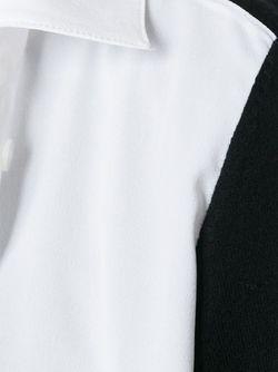 Рубашка С Контрастными Панелями Twin-set                                                                                                              чёрный цвет