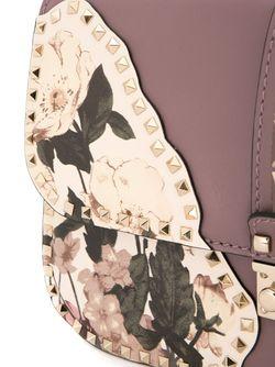 Сумка На Плечо Glam Lock С Цветочным Valentino                                                                                                              розовый цвет