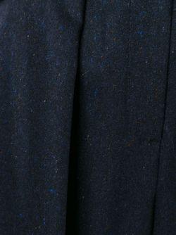 Широкие Укороченные Брюки Со Складками Cacharel                                                                                                              синий цвет