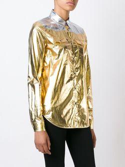 Рубашка С Эффектом Металлик No21                                                                                                              серебристый цвет