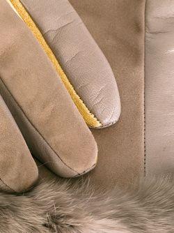 Перчатки С Отделкой Из Кроличьего Меха Gala                                                                                                              Nude & Neutrals цвет