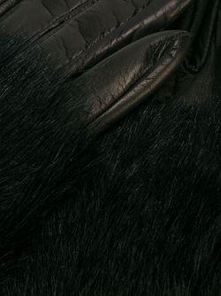 Перчатки С Шерстяной Отделкой Paloma Barceló                                                                                                              чёрный цвет