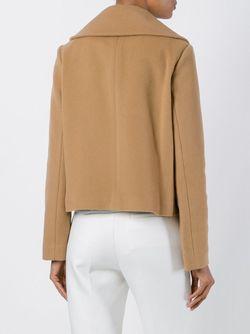 Укороченная Двубортная Куртка P.A.R.O.S.H.                                                                                                              Nude & Neutrals цвет