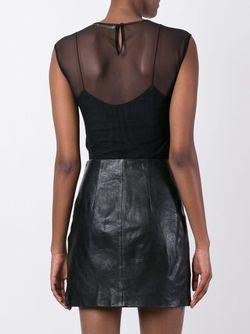 Прозрачная Блузка С Пайетками Amen                                                                                                              черный цвет