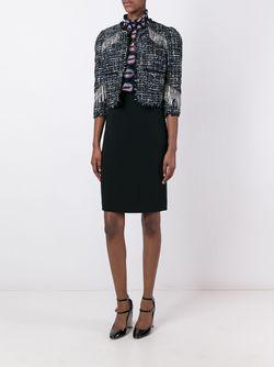 Укороченная Куртка С Бахромой Marco Bologna                                                                                                              черный цвет