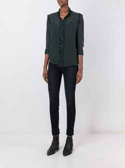 Прозрачная Блузка С Оборками Amen                                                                                                              зелёный цвет