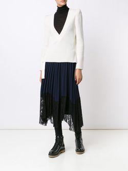 Джемпер С V-Образным Вырезом Sacai                                                                                                              белый цвет