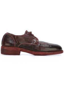 Туфли На Шнуровке GUIDI                                                                                                              красный цвет