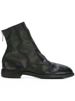 Ботинки С Закругленным Носком GUIDI                                                                                                              черный цвет