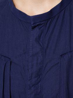 Длинная Рубашка На Пуговицах ZIGGY CHEN                                                                                                              синий цвет