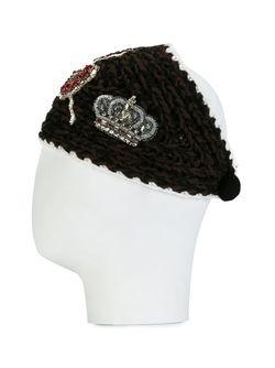 Вязаный Ободок Для Волос Dolce & Gabbana                                                                                                              коричневый цвет