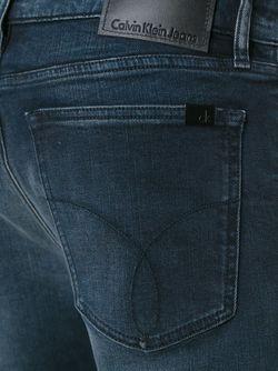 Прямые Джинсы Calvin Klein Jeans                                                                                                              синий цвет