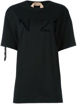 Футболка С Логотипом И Стразами No21                                                                                                              чёрный цвет