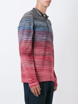 Gradient Striped Polo Shirt Missoni                                                                                                              многоцветный цвет