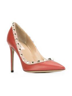 Туфли Rockstud Valentino                                                                                                              красный цвет