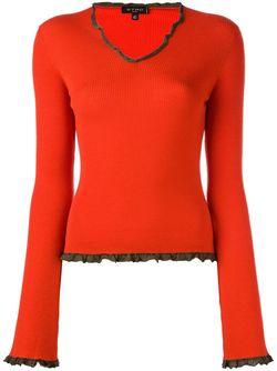 Джемпер С Оборочной Окантовкой Etro                                                                                                              красный цвет