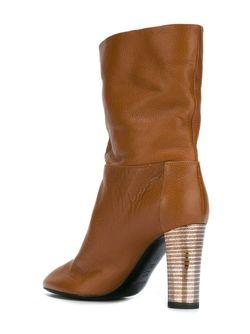 Ботинки На Каблуке Pollini                                                                                                              коричневый цвет