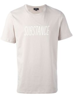 Футболка Substance A.P.C.                                                                                                              Nude & Neutrals цвет