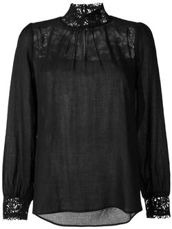 Блузка С Кружевными Вставками Masscob                                                                                                              черный цвет