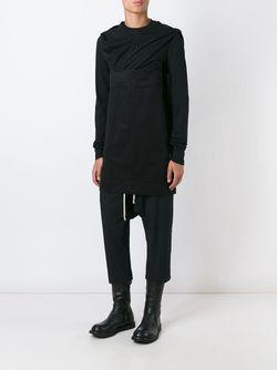 Удлиненная Толстовка Rick Owens                                                                                                              черный цвет