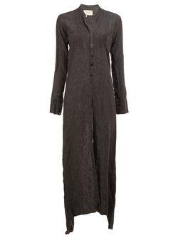 Long Buttoned Tunic GREG LAUREN                                                                                                              серый цвет