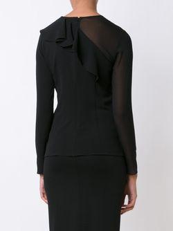 Блузка С Полупрозрачным Рукавом Cushnie Et Ochs                                                                                                              черный цвет