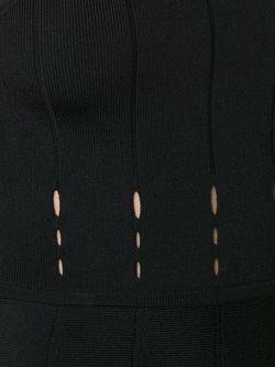 Платье С Отделкой В Рубчик Cushnie Et Ochs                                                                                                              черный цвет