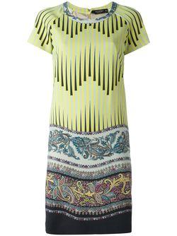 Платье С Принтом Арабеске Etro                                                                                                              зелёный цвет