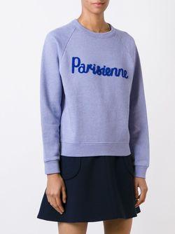 Толстовка Parisienne Maison Kitsune                                                                                                              синий цвет