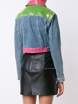 Укороченная Куртка С Цветной Отделкой Jeremy Scott                                                                                                              синий цвет