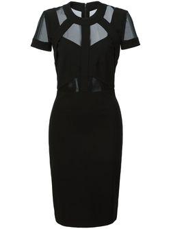 Облегающее Платье С Полупрозрачными Вставками Nicole Miller                                                                                                              чёрный цвет