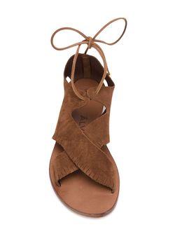 Сандалии С Завязками Alvaro Gonzalez                                                                                                              коричневый цвет