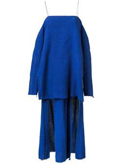 Платье Suspended Layered KITX                                                                                                              синий цвет