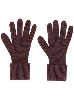 Перчатки Ребристой Вязки Ladies N.PEAL                                                                                                              розовый цвет