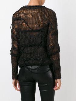Open Knit Jumper Isabel Benenato                                                                                                              чёрный цвет