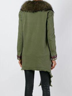 Асимметричное Пальто С Декорированными Рукавами BAZAR DELUXE                                                                                                              зелёный цвет