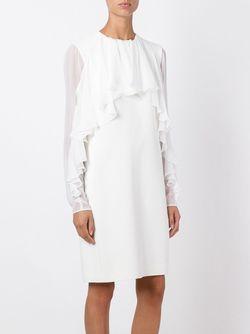 Платье С Оборками Giambattista Valli                                                                                                              белый цвет