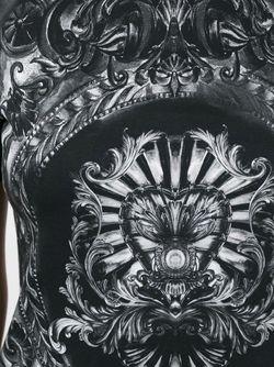 Baroque Detail T-Shirt Balmain                                                                                                              чёрный цвет