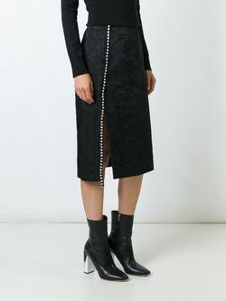 Декорированная Юбка-Миди No21                                                                                                              чёрный цвет