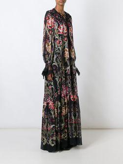 Платье С Цветочным Узором Roberto Cavalli                                                                                                              чёрный цвет