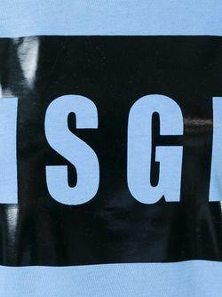 Футболка С Логотипом MSGM                                                                                                              синий цвет