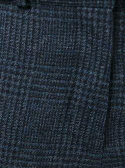 Брюки Кроя Скинни В Клетку Victoria Beckham                                                                                                              синий цвет