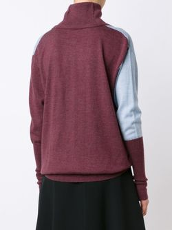 Cut-Out Turtleneck Sweater TOME                                                                                                              синий цвет