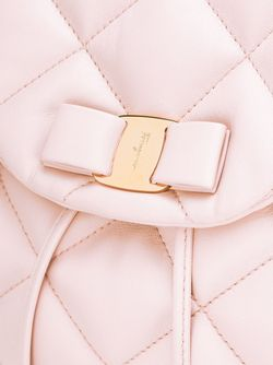 Стеганый Рюкзак Vara Salvatore Ferragamo                                                                                                              розовый цвет