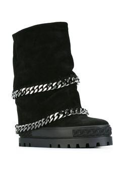 Ботинки С Отделкой Молнией Casadei                                                                                                              черный цвет