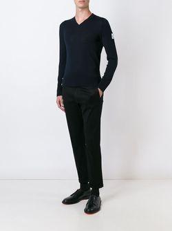 Джемпер С V-Образным Вырезом Moncler Gamme Bleu                                                                                                              синий цвет